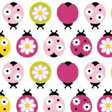 欧美卡通动物 瓢虫花型
