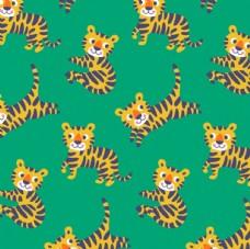 欧美卡通丛林动物 老虎