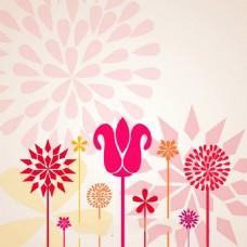 花朵图案矢量素材