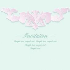 粉色花朵复古典雅矢量纹理背景