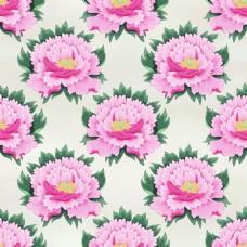 平铺牡丹花图形花纹VI设计矢量