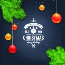 圣诞节海报星空装饰元素