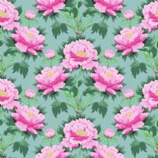 手绘牡丹花朵填充背景