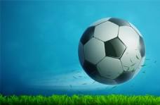 蓝色足球运动矢量背景