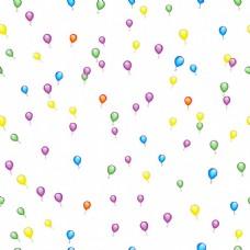 气球花纹图案矢量素材