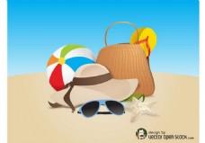 沙滩暑假素材