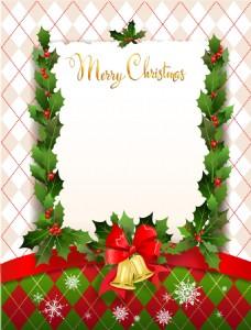 粉色网格背景梦幻主题圣诞海报矢量设计素材
