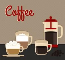 咖啡广告背景素材