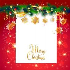红色圣诞节背景海报矢量设计素