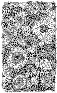 手绘涂鸦太阳花背景
