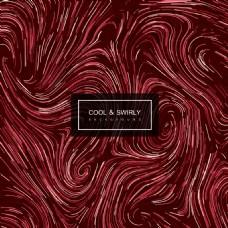 红色何卷曲时尚彩色光泽的抽象背景