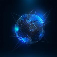 科技发光地球背景矢量EPS素材