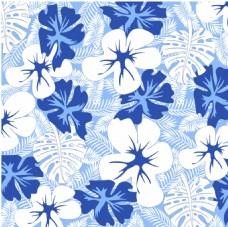 热带雨林蓝色素材图案印花面料图案