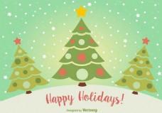 绿色圣诞树矢量素材