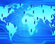 全球化网络抽象矢量背景