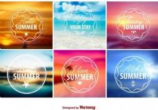夏天图标矢量素材