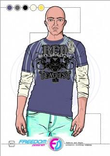 男T恤设计
