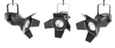 三盏聚光灯机械效果图