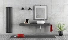 简约洗手间效果图图片
