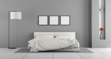 欧式简约白色卧室效果图