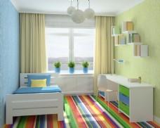 简约多彩儿童房效果图