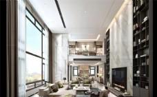 现代客厅3D装修模型