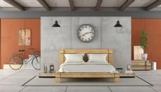简约白色复古客厅卧室效果图图片