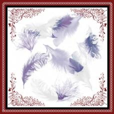 羽毛方巾花纹装饰画