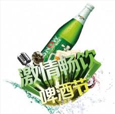 立体啤酒节艺术字