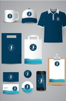 VI蓝色企业形象设计模板