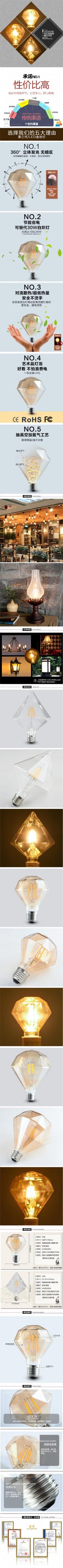 淘宝电商家用电器创意灯泡灯饰详情模板