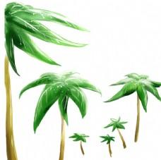 卡通椰树素材