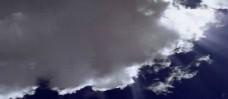 白云飘散实拍素材