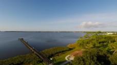自然风景长桥视频