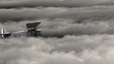 云朵飞机视频素材