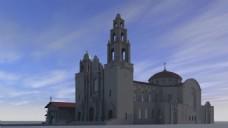 欧式城堡建筑视频