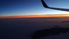 黄昏天空飞机视频