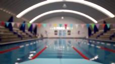 实拍游泳池视频素材