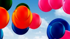彩色气球视频素材