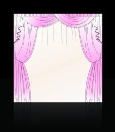 手绘粉色布幔