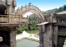 衡山旅游景区桥风景摄影