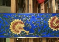 寺庙彩绘天花横梁扣板