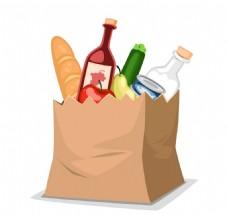 食物袋矢量元素