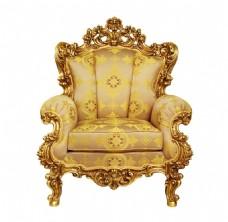 金色花纹沙发元素