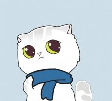 矢量卡通猫装饰画素材