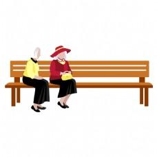 手绘休闲座椅元素