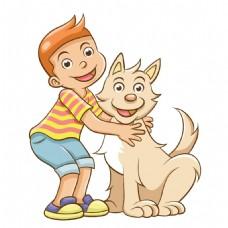 手绘卡通宠物元素