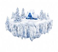 手绘冰雪森林元素