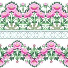 中国风牡丹花图形花纹VI设计矢量