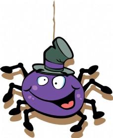 万圣节卡通蜘蛛元素